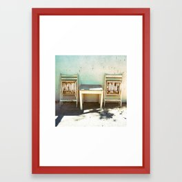 The balcony Framed Art Print