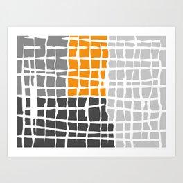 Digital Labyrinth Art Print