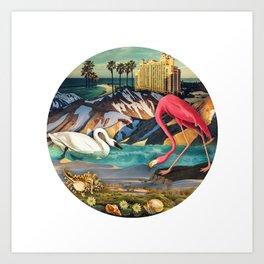 Birds of America :: Flamingo Hotel Art Print