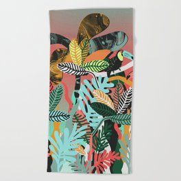 Sunset in the jungle Beach Towel