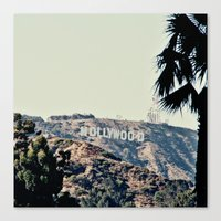 hollywood Canvas Prints featuring Hollywood  by sam may create.