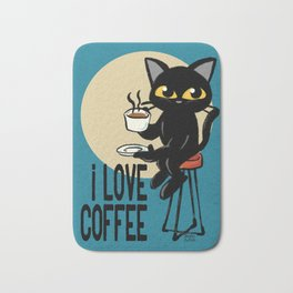 I love coffee Bath Mat