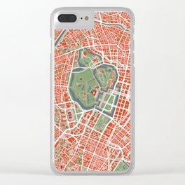 Tokyo city map classic Clear iPhone Case