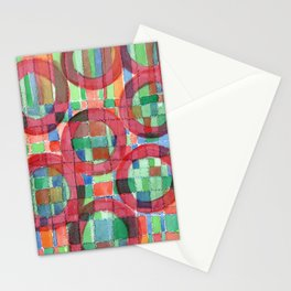 Red Magical Rings Stationery Cards