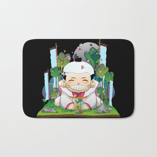 Fukusuke and the magic forest Bath Mat