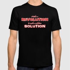 It Takes A Revolution To Make A Solution Mens Fitted Tee Black MEDIUM