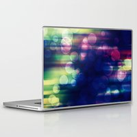 magical girl Laptop & iPad Skins featuring Magical Girl Blue by Misi