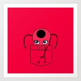 Tikki Pocket Tee Art Print