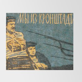 Soviet Film Poster We are From Kronstadt Throw Blanket
