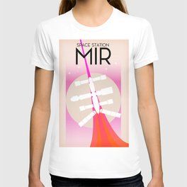 MIR Russian Space Station poster T-shirt