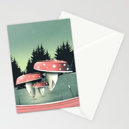 Fishing for Mushrooms Stationery Cards