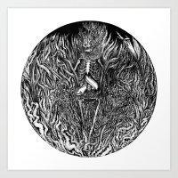 The Eel Art Print