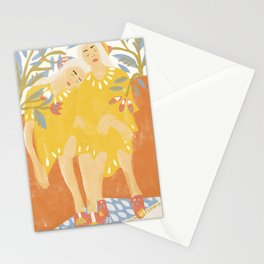 Botanical Girls Stationery Cards