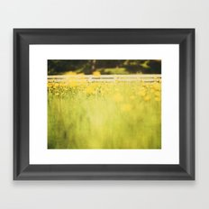 Creeping Framed Art Print