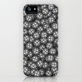 Poker chips B&W / 3D render of thousands of poker chips iPhone Case