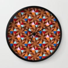 Modern Marquetry Wall Clock