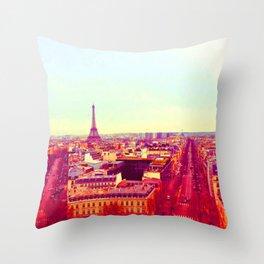 PARIS IN PINK Throw Pillow