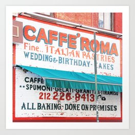 176. Caffé Roma, New York Art Print
