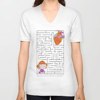 labyrinth V-neck T-shirts featuring labyrinth by Christina Tsevis