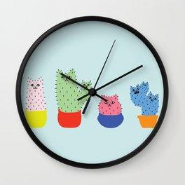 Catcus - Blue Theme Wall Clock