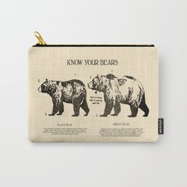 Know Your Bears Carry-All Pouch