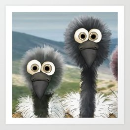 series: Old World Vultures - Gyps coprotheres and Gyps africanus Art Print