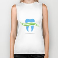 tooth Biker Tanks featuring Tooth by aleksander1