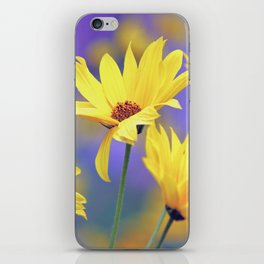 Yellow Flowers in a Purple Sea iPhone Skin