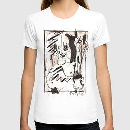 Old Flowers - b&w T-shirt