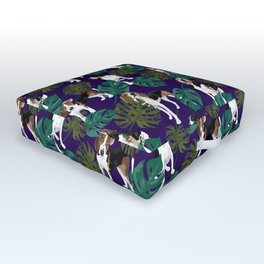 Tropical Treeing Walker Coonhounds Outdoor Floor Cushion