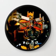 Golden Optimus Wall Clock