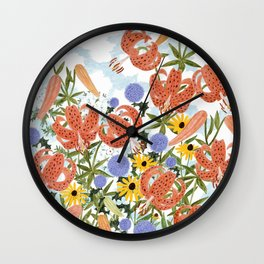 FLORILEGIUM III (TIGER LILIES) Wall Clock