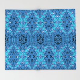 Intricate High Definition Magic Lace Print Throw Blanket