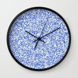 Tiny Spots - White and Royal Blue Wall Clock