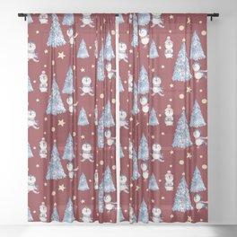 Holidays pattern 12 Sheer Curtain