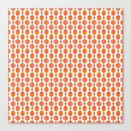 Mid Century Retro Dots Canvas Print