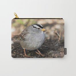Profile of a White-Crowned Sparrow Carry-All Pouch