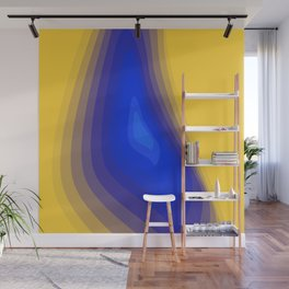 Blue and yellow Wall Mural