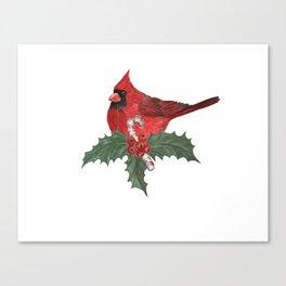 red cardinal bird Canvas Print