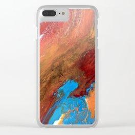 Arizona Agate Slab Clear iPhone Case