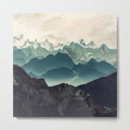 Shades of Mountain Metal Print