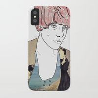 introvert iPhone & iPod Cases featuring introvert girl by Katharina Nachher