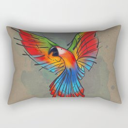 Colors of the Macaw Rectangular Pillow