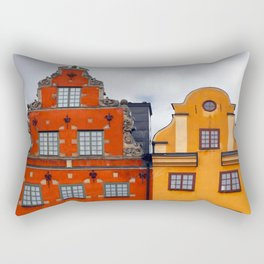 Stockholm. Colorful Houses in Gamla Stan Rectangular Pillow
