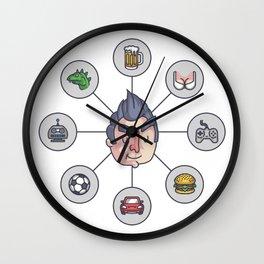 Men's Needs Wall Clock