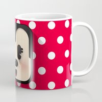 minnie mouse Mugs featuring minnie mouse cutie by designoMatt