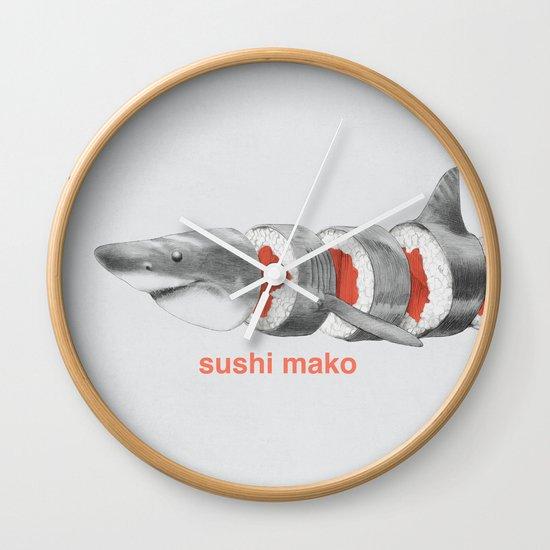 Sushi Mako Wall Clock