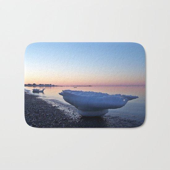 Icebergs on the Beach Bath Mat