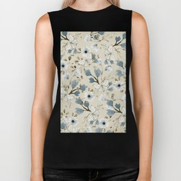 Flowers and Butterflies Biker Tank