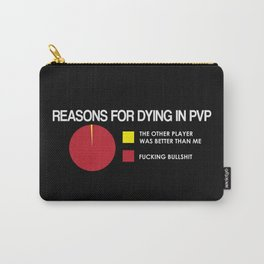 Reasons for Dying in PVP Carry-All Pouch